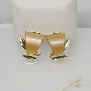 Charel Signed Earrings Vintage Clip On Style